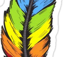 Rainbow Feather Sticker