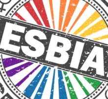 Certified Lesbian Stamp Sticker