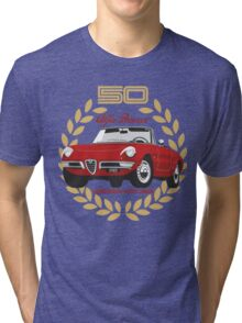 Alfa Romeo Spider 50 years Tri-blend T-Shirt