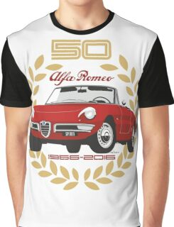 Alfa Romeo Spider 50 years Graphic T-Shirt