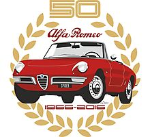 Alfa Romeo Spider 50 years Photographic Print