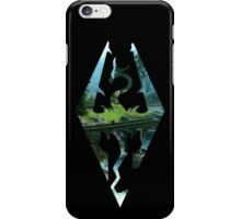 Skyrim Logo - Scenery iPhone Case/Skin