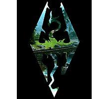 Skyrim Logo - Scenery Photographic Print