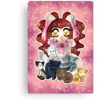 Kawaii Kitty  Canvas Print