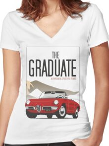 Alfa Romeo Duetto from the Graduate Women's Fitted V-Neck T-Shirt