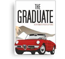Alfa Romeo Duetto from the Graduate Canvas Print