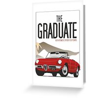 Alfa Romeo Duetto from the Graduate Greeting Card