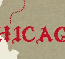 Chicago X marks the spot Sticker