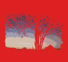 Sunset Landscape One Piece - Short Sleeve