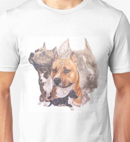 American  Staffordshire Terrier w/Ghost Unisex T-Shirt