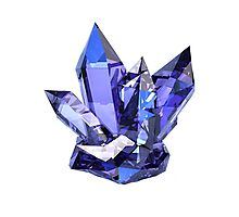 Blue Crystal Photographic Print