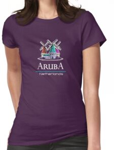 Aruba, The Netherlands Paradise Island Womens Fitted T-Shirt