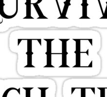 I survived the witch trial Sticker