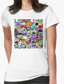 graffiti fun Womens Fitted T-Shirt
