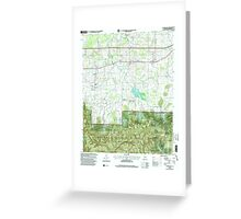 USGS TOPO Map Alabama AL Landersville 304361 2000 24000 Greeting Card