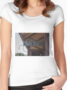 Train Station 1 Women's Fitted Scoop T-Shirt