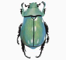 Green bug Baby Tee