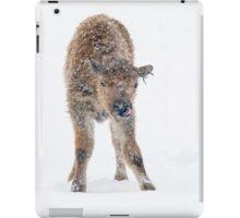 Catching snowflakes iPad Case/Skin