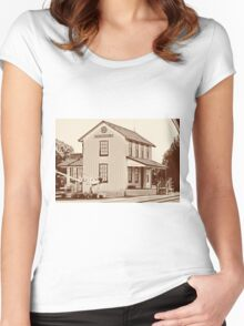 Train Station 3 Women's Fitted Scoop T-Shirt