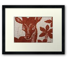 deer image on the wool blanket Framed Print