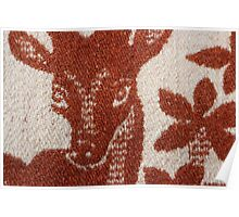 deer image on the wool blanket Poster