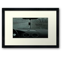 Driving in rainy weather Framed Print