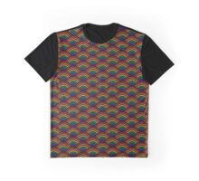 Rainbow Scallop Flag Graphic T-Shirt