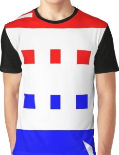Contemporary Red Blue Design Graphic T-Shirt