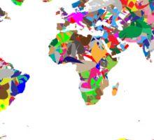 World Splotches Sticker