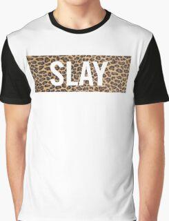Slay Leopard Graphic T-Shirt