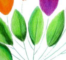 Seven colorful tulips Sticker
