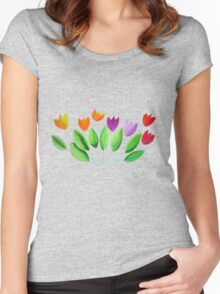 Seven colorful tulips Women's Fitted Scoop T-Shirt