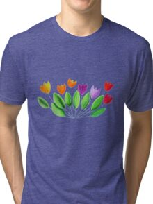 Seven colorful tulips Tri-blend T-Shirt