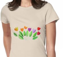 Seven colorful tulips Womens Fitted T-Shirt