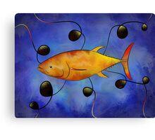 Tuorangossi V1 - orange tunafish Canvas Print