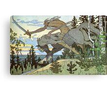 Ivan Bilibin - Russian Illustrator - Koshchey Canvas Print