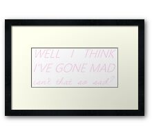 me and my brain - the 1975 Framed Print