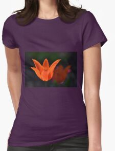 Backlit Orange Tulip Womens Fitted T-Shirt