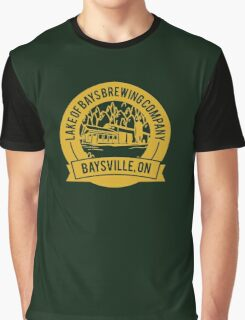 Lake of Bays Brewing Company - Baysville, ON: Cartoon Circular, Mustard Graphic T-Shirt