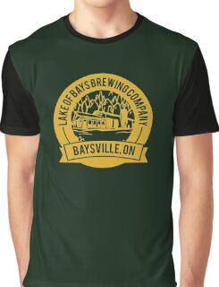 Lake of Bays Brewing Company - Baysville, ON: Cartoon Circular, Mustard Graphic T-Shirt