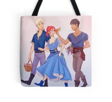 on a walk Tote Bag
