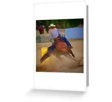 Champion Barrel Racer Greeting Card