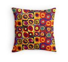 Kandinsky Modern Squares Circles Colorful Throw Pillow