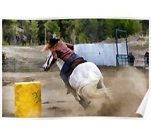 Champion Barrel Racer Poster