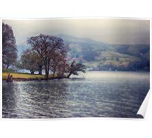 Rain at the Lake Poster