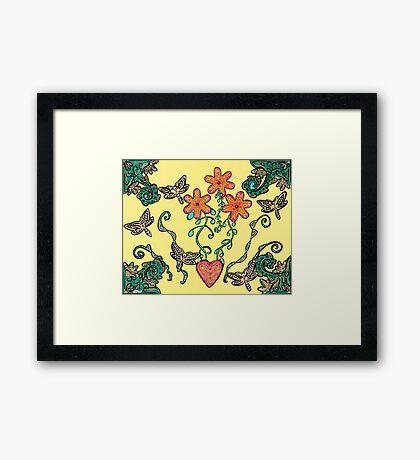 Tranquil Garden Framed Print