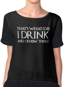 Tyrion Lannister - quote Chiffon Top