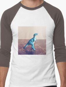 Blue Dinosaur  Men's Baseball ¾ T-Shirt