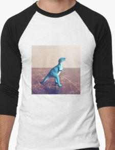 Blue Dinosaur  Men's Baseball ¾ T-Shirt