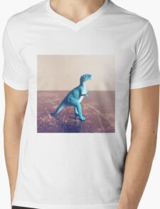 Blue Dinosaur  Mens V-Neck T-Shirt